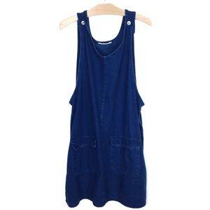 Denim Jumper Retro Oversize Smock Dark Blue Dress